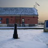 Poole Old Lifeboat Museum in the snow