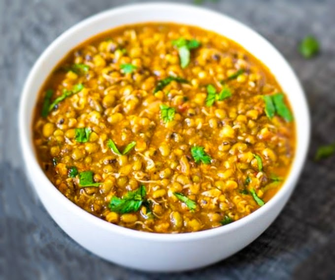Sprouted Green Lentils/ Mung Bean Curry Recipe | Breakfast Care