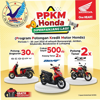 Program Potongan Kredit Motor Honda Banyuwangi Garuda Motor Jajag Termurah