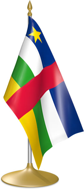 Central African table flags - desk flags