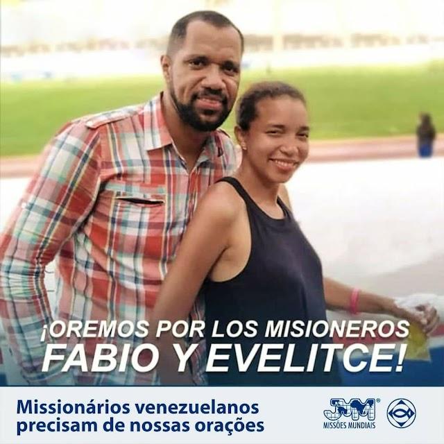 Casal de missionários venezuelanos da Convenção Nacional Batista da Venezuela, Fabio e Evelitce Gines são presos