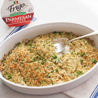 Baked Fish with Parmesan Breadcrumbs.