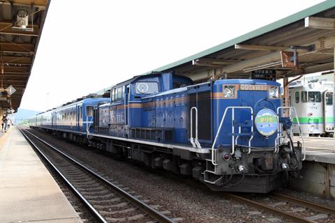 JR北海道 「リバイバルまりも」 DD51&14系座席車&24系寝台車 新得駅にて その1