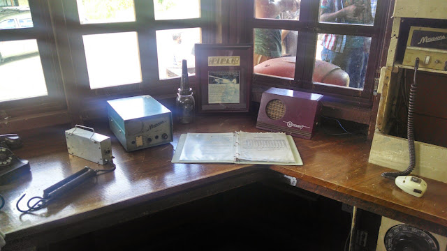 The radio room has been restored to look as it might have during the 1950s, when Nate Saint and his fellow missionaries flew from Shell Mera.