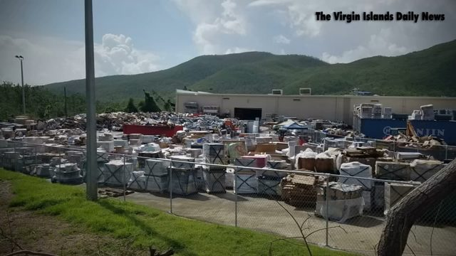 One million pounds of merchandise at the damaged Home Depot in Saint Thomas, Virgin Islands, 26 October 2017. Instead of being used to help reconstruct the island after hurricanes Irma and Maria, it was sent to the Bovoni Landfill and crushed. Photo: U.S. Virgin Islands Daily News