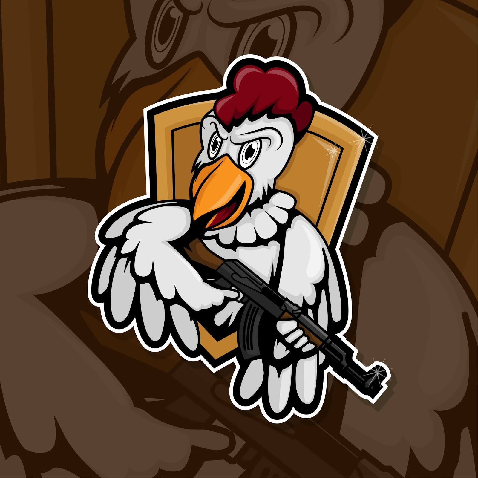 Esport Gamer Logo Chicken Army Free Download Vector CDR, AI, EPS and PNG Formats