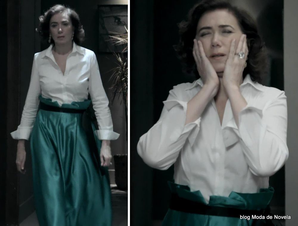 moda da novela Império, look da Maria Marta dia 2 de janeiro de 2015