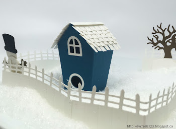 Linda Vich Creates: First Play With Home Sweet Home. Dapper Denim and Dazzling Diamonds Glimmer Paper teams up to create a winter cottage using the Home Sweet Home Thinlits.