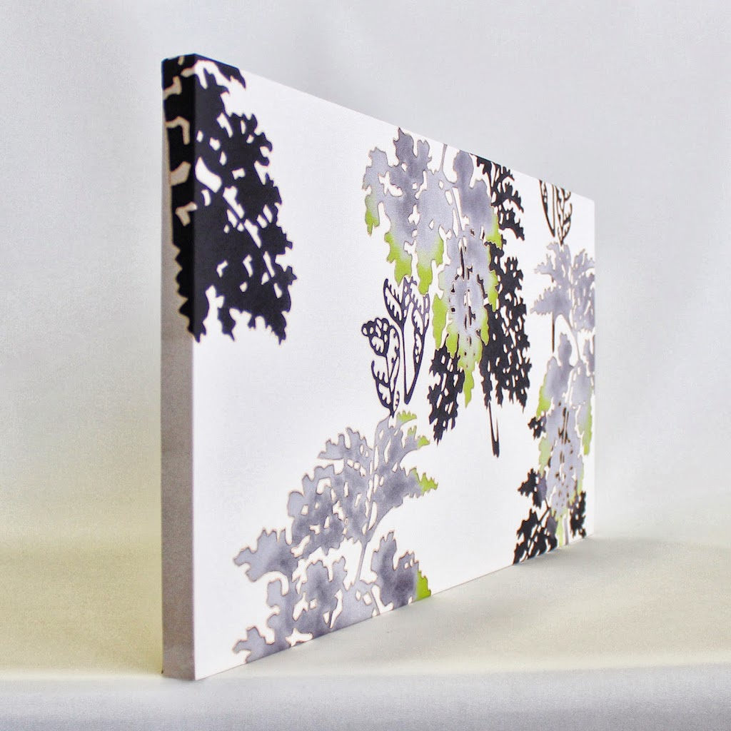 Hand-Painted Kimono Silk Panel Wide - Shida (off-white)