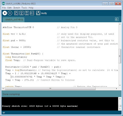 Enviar programa a Arduino para obtener y mostrar la temperatura por el puerto serie