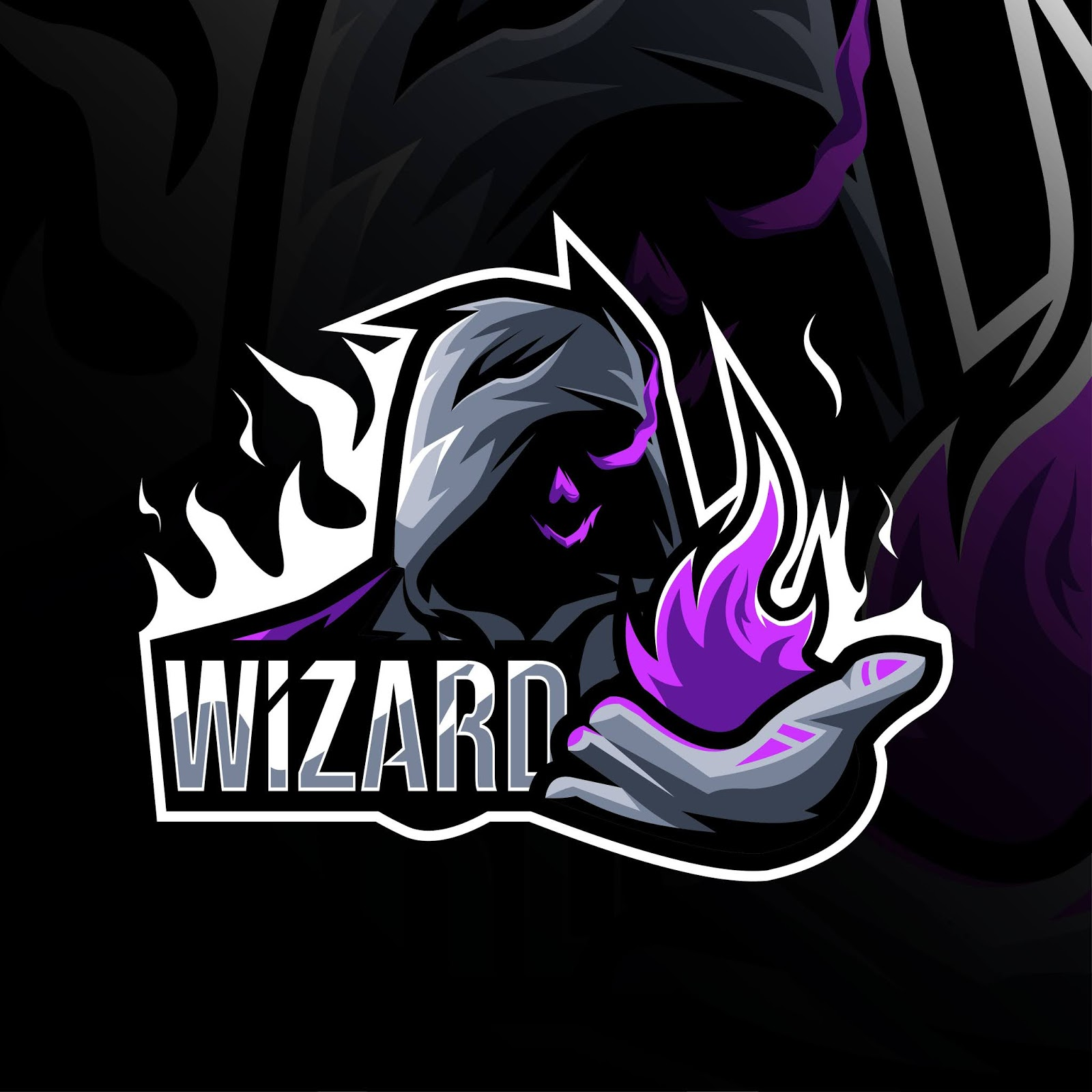 Wizard Mascot Logo Template Design Free Download Vector CDR, AI, EPS and PNG Formats
