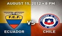 Ecuador Chile vivo online Amistoso 15 Agosto 2012
