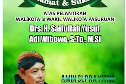 Amin Suprayitno ( Hulk ) Mengucapkan Selamat Atas Dilantiknya Gus Ipul & Mas Adi