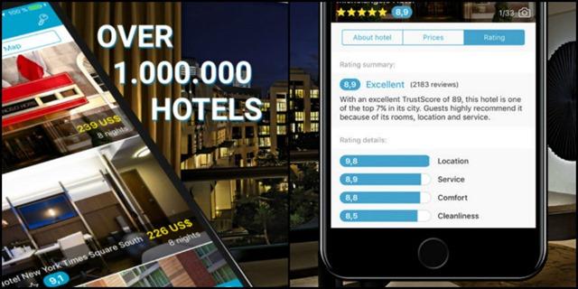 آيفون تطبيق Cheap Hotels للعثور على أرخص أسعار الفنادق