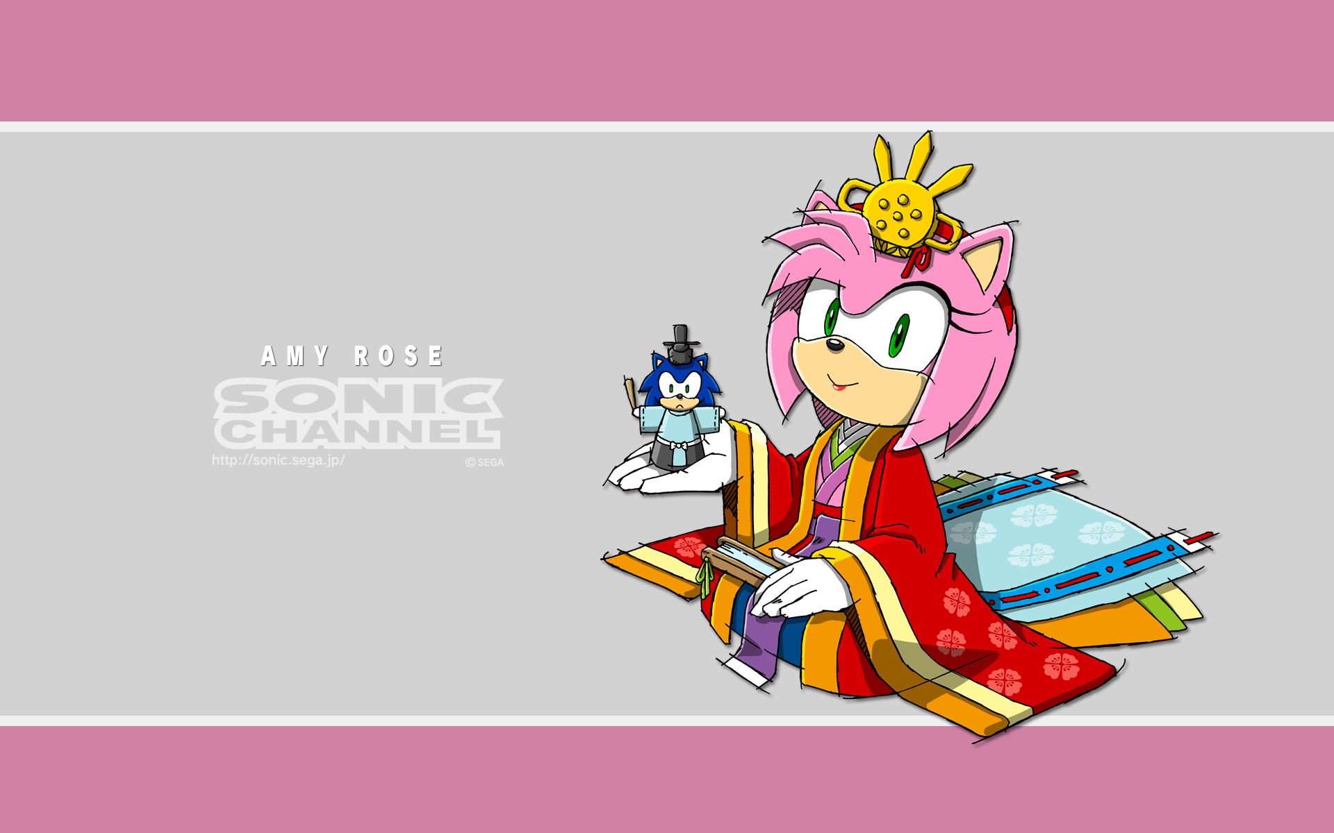 Amy Rose March 2014 Sonic Channel Wallpaper Translations