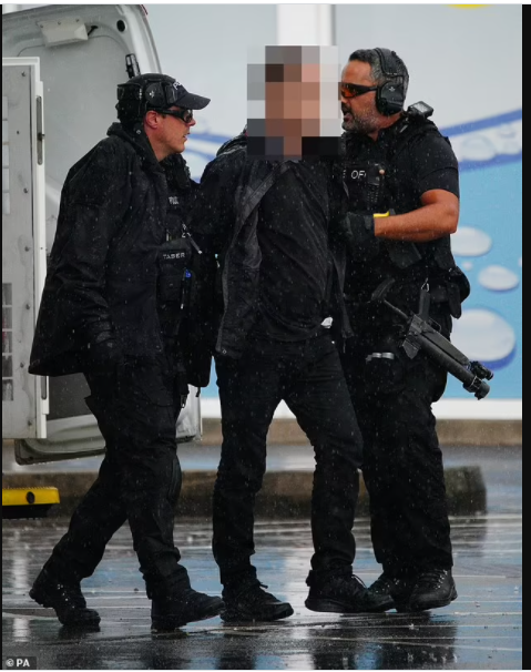 Update: Armed police arrest 'knifeman who took terrified staff hostage' at petrol station (photos)