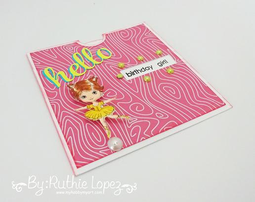 Tarjeta giratoria - Julia Spirit - Little Ballerina -Latinas Arts and Crafts - Ruthie Lopez 2