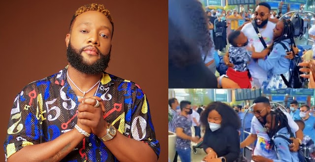 Emotional Moment Singer Kcee Reunites With His Kids At The Airport In Turkey (VIDEO)