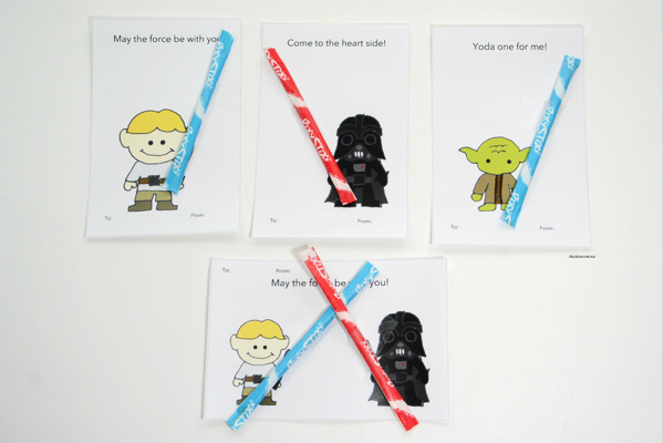 Pixie Sticks star wars Printable Valentine