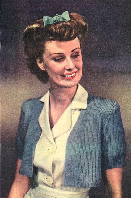 Free 1940's Knitting Pattern - Shoulder Warmth Bolero