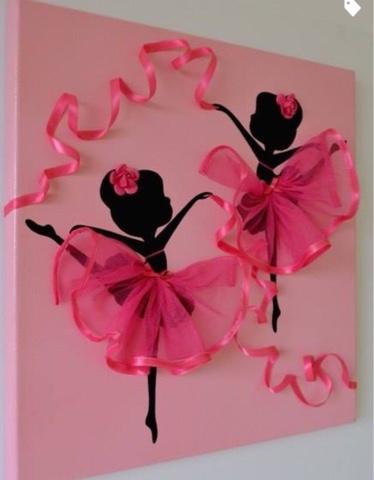 Anyamode Diy Craft Idea Dancing Ballerinas Drawn On Canvases