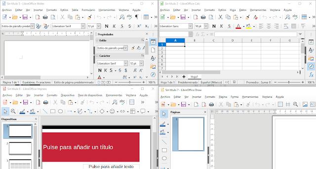 LibreOffice: una muy buena suite ofimática libre y liviana.