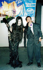 Morticia & Gomez at a party for the New Addams Family TV show on Fox