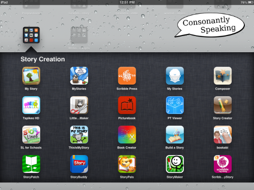 Consonantly Speaking Story Creation Apps