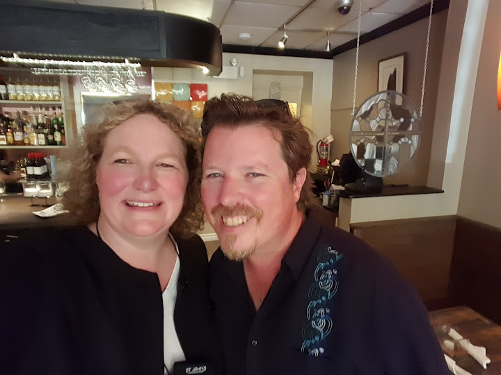 Myself and Bob Hallett of Great Big Sea, at his restaurant, Tavola, in St. John's, Newfoundland