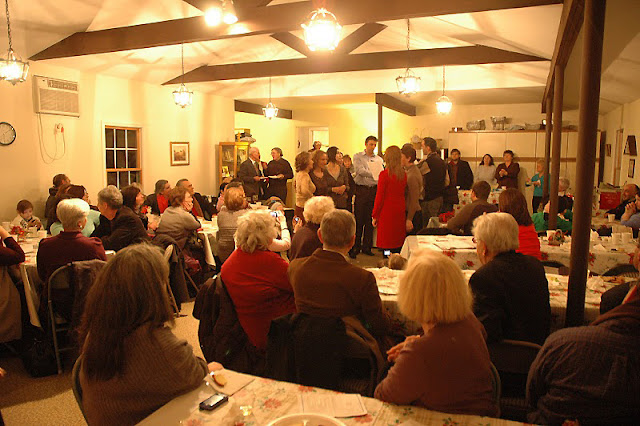 The Community Room was also filled to capacity during the meal.