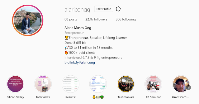 Alaric Moses Ong Instagram (@alaricongg)