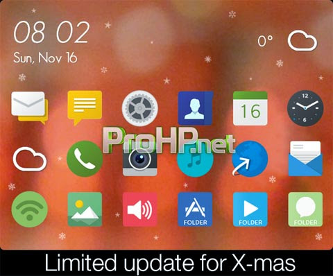 Awesome Thing for X-mas Theme for BlackBerry 3