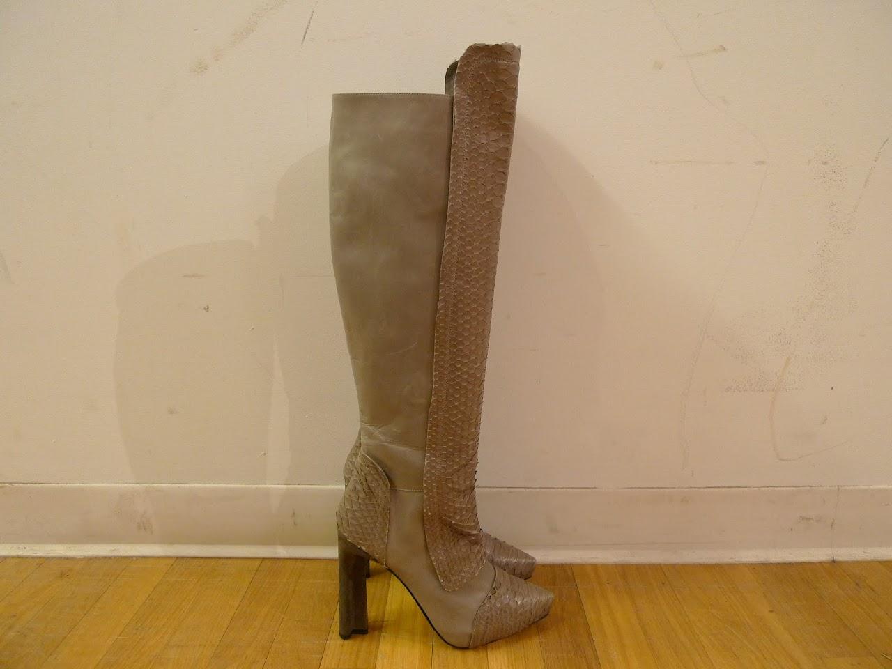 Maiyet Snakeskin Knee High Boots