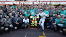 Nico Rosberg wins Monaco team celebration