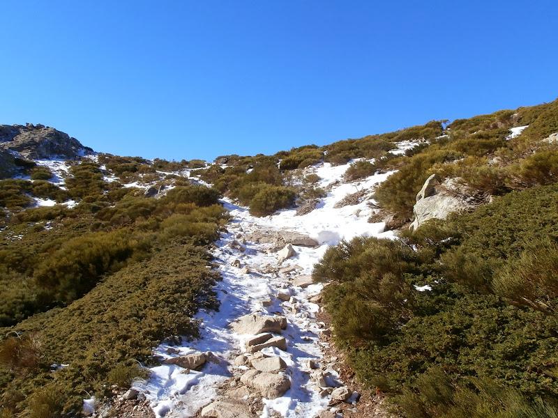 Un tramo con un poco de nieve
