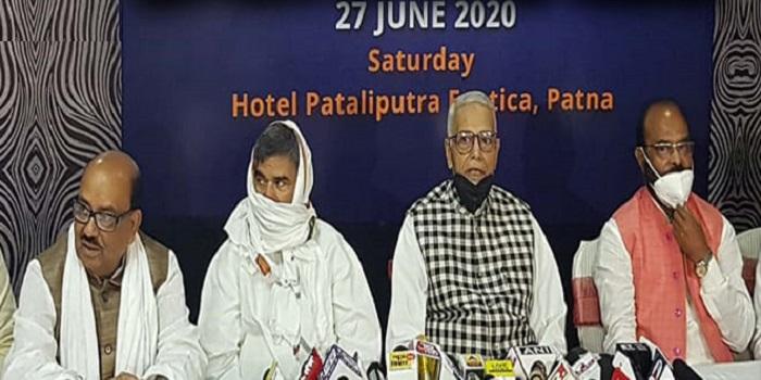 यशवंत सिन्हा ने किया नई पार्टी बनाने का ऐलान, कहा-बिहार की जनता को देंगे नया विकल्प