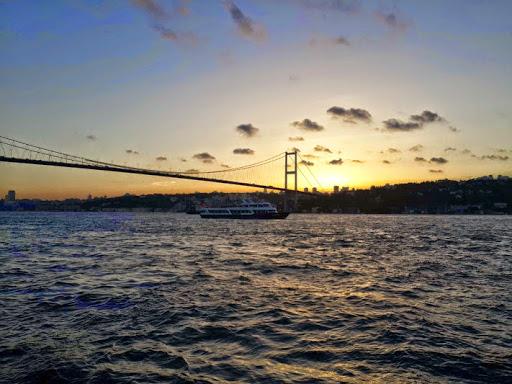 Bosphorus Bridge sunset.