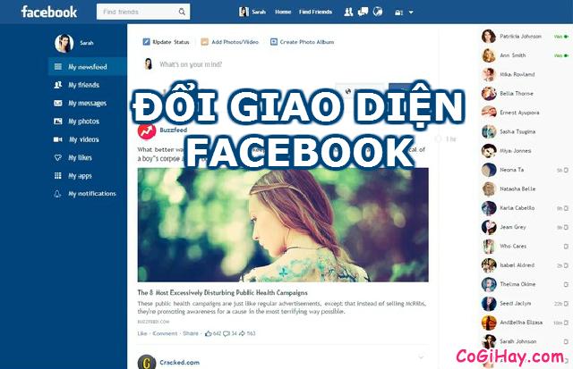 Đổi giao diện Facebook