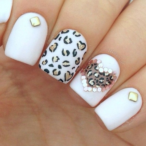 Wild French Tip Nail Designs: French Tip Leopard Print Nail Design 2016