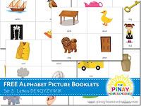 FREE Alphabet Picture Booklets (DEXQYZVWJK)