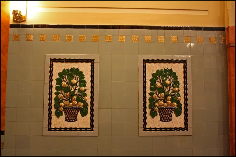Art Nouveau Tiles, Municipal House, Prague