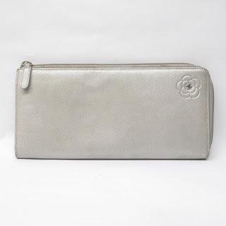 Chanel Metallic Leather Wallet