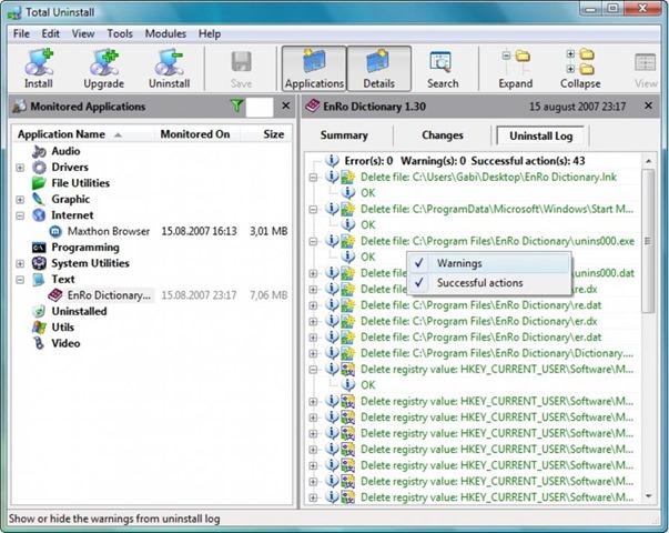 برنامج إزالة البرامج المثبتة تماما Total Uninstall 6.17.2