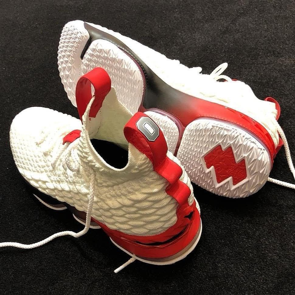 4633c5e9ec8 ... PJ Tucker Brings Out Nike LeBron 15 Ohio State Home PE