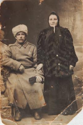 Роман Максимович и Екатерина Васильевна Волковы(из личного архива Зарековкиной З.Р.)