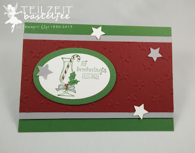 Stampin' Up! - In{k}spire_me #223, Prosit, Making Spirits Bright, Stars, Sterne, Weihnachten, Christmas, Framelits Oval Collection, Color Challenge