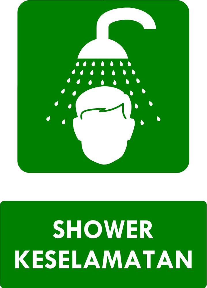 Rambu Sarana Shower Keselamatan