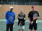 Our tennis pros: Andre, George, and Jared