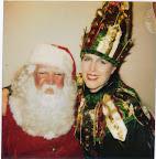 Button Elf with Santa
