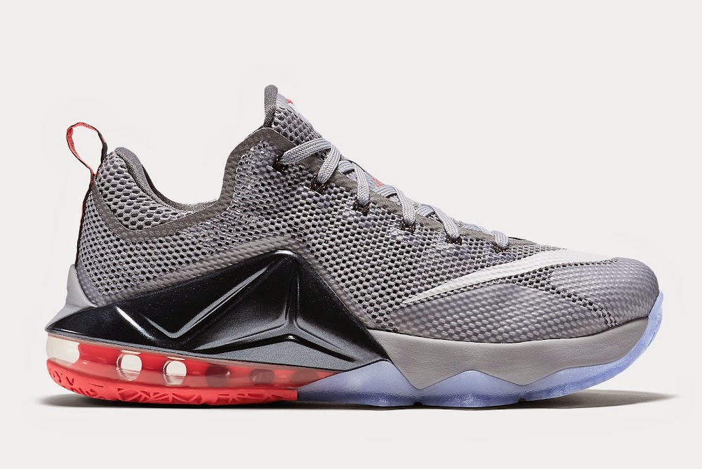 best website 8422a bc47d Upcoming Nike LeBron XII Low 8211 Wolf Grey amp Hot Lava ...